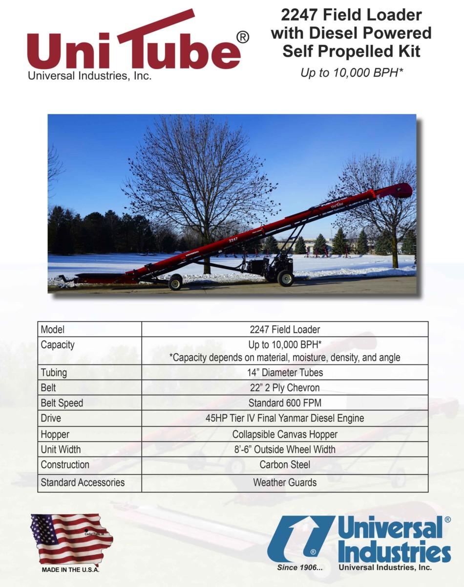 971953fa3db55b Universal UniTube 2247 Field Loader - West Coast Seed Mill Supply ...